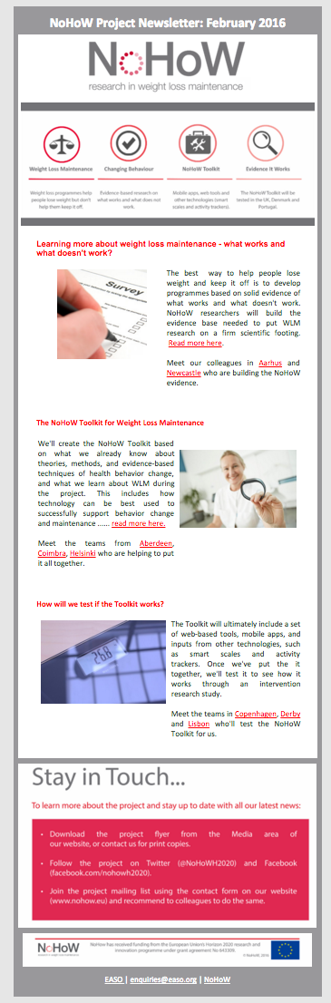 NoHoW Newsletter 1